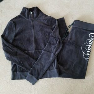 Juicy Couture Gray velore track suits